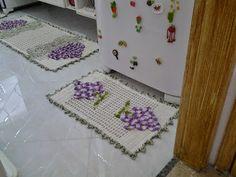 Tapetesa: Jogo de tapetes de croche para cozinha cacho de uv...