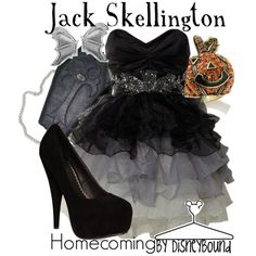 disney polyvore outfits, fashion, style, cloth, the dress, homecoming outfits, christmas outfits, disneybound, jack skellington