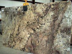 Niagra Gold granite slab 24814 - Kitchen idea - Welcome Haar Design