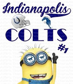 Indianapolis Colts - AFC South - Iron On Heat Transfer 8 x 9 NFL - Featuring Minion, Crafts :: Home Arts & Crafts :: Other Home Arts & Craft...