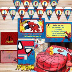 Spiderman Party Kit DIY *DIGITAL FILES* Diy Party Kits, Diy Kits, Party Ideas, Shower Party, Baby Shower Parties, Spiderman Invitation, Spiderman Movie, Party Decoration, Name Banners