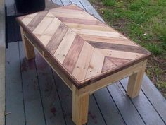 This is a coffee table that I am proud of. I saw a lot of different images from pinterest and decided to start building. I am currently working in Batesville, Ar.