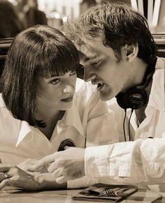 "Passion of Cinema on Instagram: ""Uma Thurman & Quentin Tarantino on the set of ' Pulp Fiction ' 📷 . Pulp Fiction 🎬 (1994) Directed by Quentin Tarantino . #pulpfiction…"""