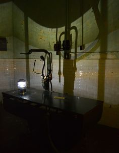 A night on Alcatraz Island during the prison's night tour. This is the hospital room. Photo by TurnipseedTravel.com