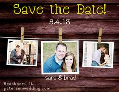 Save the Date photo magnets. $1.25, via Etsy.