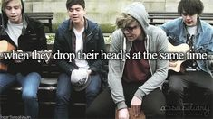 its kinda creepy>>>I love it!!!! #5SOSAppreciationDay>> they can't even JUMP at the same time!!!!>>>and yet they can do their heads