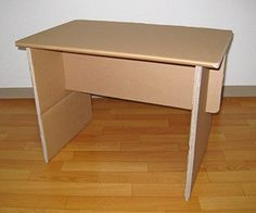 This is a relatively easy to make, knock-down (flatpack) end table made from one cardboard box (it could also be made from multiple boxes or pieces as...