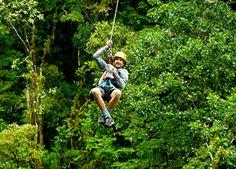 Ziplining in Panama