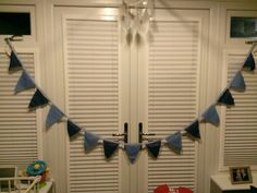 Bunting for my little boys bedroom ceiling x