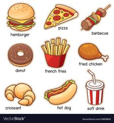 Find Vector Illustration Vocabulary Food Set stock images in HD and millions of other royalty-free stock photos, illustrations and vectors in the Shutterstock collection. Thousands of new, high-quality pictures added every day. Learning English For Kids, English Lessons For Kids, Kids English, English Language Learning, English Food, English Class, Teaching English, Food Vocabulary, English Vocabulary Words