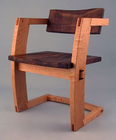 palo alto dining chair walnut front