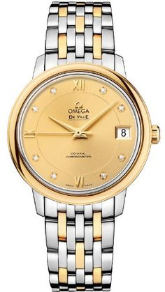 Omega Deville Prestige Co-Axial Ladies Watch 424.20.33.20.58.001 *** See this great product. (This is an affiliate link)