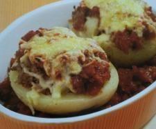 Rezept Kartoffelhälften mit Hackfleisch und Zwiebeln von noldine - Rezept der Kategorie Hauptgerichte mit Fleisch