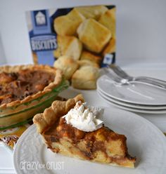 Pumpkin Bread Pudding Pie by Crazy for Crust