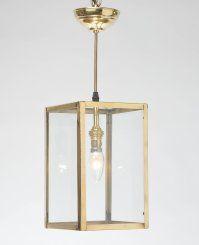 Rectangular Pendant, polished brass