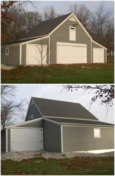 Pole barn garage with lean lean to pictures building for One car garage kit with loft