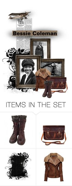 """Black History Month: Bessie Coleman"" by delusionsbybonnie ❤ liked on Polyvore featuring art, history and BlackHIstoryMonth"