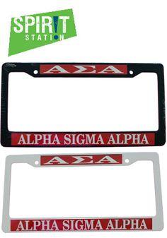 Alpha Sigma Alpha Plastic License Plate Frame