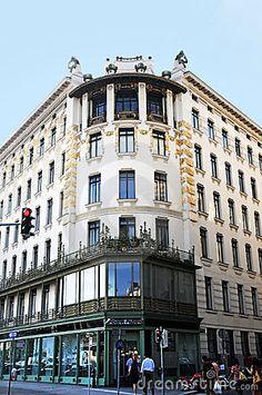 art nouveau architecture | Art Nouveau architecture in Vienna, Austria. In Wienzeile near ...