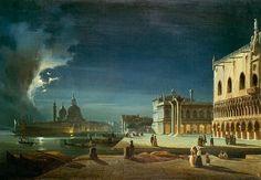 Ippolito Caffi - Venice by Moonlight
