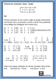 Sistema de ecuaciones Gauss-Jordan Mathematics Geometry, Physics And Mathematics, Logic Math, Math Humor, Physics Concepts, Math Quotes, Math Charts, Precalculus, Math Questions