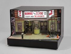 """STRAND CINEMA"" (2013) Alan Wolfson. meticulous detailed New York amalgam dioramas"