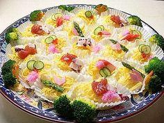 春咲き花ちらし寿司
