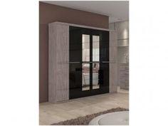 Guarda-roupa Casal 6 Portas com Espelho - 3 Gavetas - Lopas Maracatu