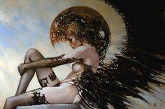 """Artist: Karol Bak // Title Unknown - """"Regrets of the War Angel""""?"""