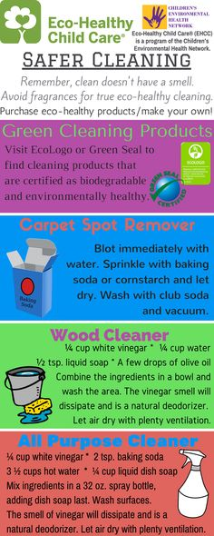 Easy recipes for healthy and kid friendly cleaning products that you can make at home! #EcoHealthyChlidCare® #CEHN
