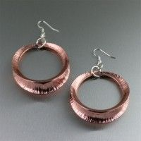 Copper Fold Formed Shell Earrings. Add some glam to any of your favorite outfits!   www.johnsbrana.co...  $85.00