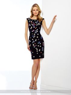 045f0544999 Social Occasions By Mon Cheri 216882 - Sleeveless jersey knee-length sheath  with multi-