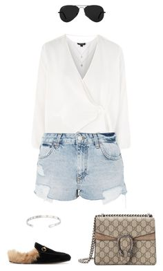 """""""fancy"""" by artwhiskers ❤ liked on Polyvore featuring Topshop, Gucci and Ray-Ban"""