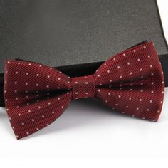 Stylish Small Dots and Twill Pattern Bow Tie For Men