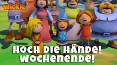 """""""Hoch die Hände! Wochenende!"""" Wickie und die starken Männer freuen sich mit Euch aufs Wochenende! #WickieunddiestarkenMänner #Wickie #Wochenende #Freude #Sprüche #Kinderserien"""