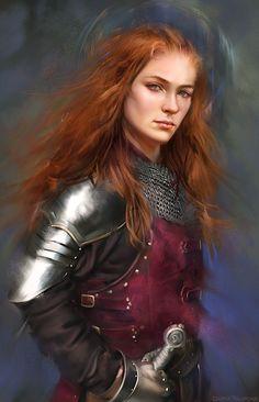 RPG Female Character Portraits — wlfgrrl: Sansa Stark by Darya Talipova Female Knight, Female Armor, Fantasy Portraits, Character Portraits, Portrait Images, Fantasy Armor, Medieval Fantasy, Fantasy Women, Fantasy Girl