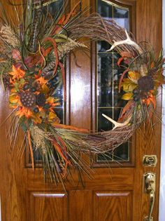 Deer Antler Wreath I Made Last Yr.