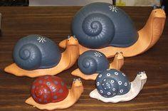 Artesanias Yibi: caracoles en ceramica pintados a mano