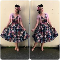 """OOTD  Dress- @collectifclothing (sample)  Cardigan - @uv_darlings  Shoes- @baitfootwear  Hair flower - @sophisticatedladyhairflowers  Brooch -…"""