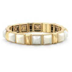 Stella & Dot Sawyer Stone Stretch Bracelet (1,735 THB) ❤ liked on Polyvore featuring jewelry, bracelets, stone jewelry, stretch bracelet, stretchy bracelet, bracelet bangle and stretch jewelry