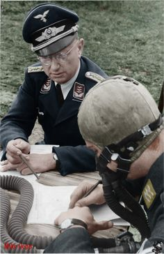 Luftwaffe student pilot sits his test.