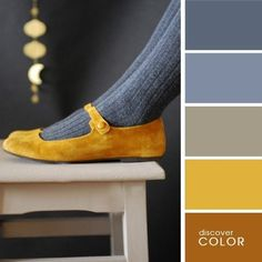 COLOR PALETTE ~ MUSTARD AND GRAY SHOE SHADES ~~*~~