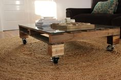 bricolage de table basse en palettes bois - tuto