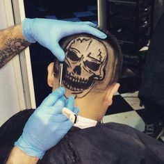 #hairtattoos #hairstyle #hairtattoo3d #hairtattoo #disegno #teschio #myart#mgoninstagram