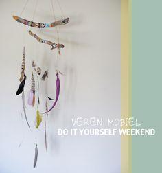 The secret is to dream | BLOG: Maak je eigen veren mobiel | Do it yourself weekend