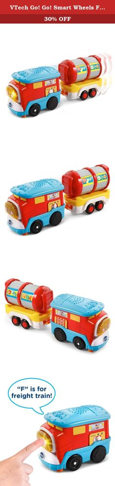 VTech Go! Go! Smart Wheels Freight Train with Tanker Car. Fred the motorized Go! Go! Smart Wheels Freight Train by VTech loves chugging along with heavy cargo. Your little conductor can press the light-up button to hear sing-along songs and learn the letter F or push him along to play cheerful melodies and sound effects. Pretend to fill up the detachable tanker car by spinning the tanker's drum to develop motor skills. This cute little train also responds to SmartPoint locations on Go…