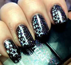 I am all about this one.  I LOVE Butter London's The Black Knight, and I love stars.