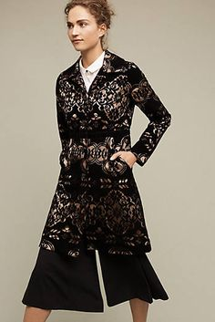 Anthropologie Laced Velvet Coat Plenty by Tracy Reese Sz 0 - NWT Tracy Reese, Bd Fashion, Womens Fashion, Peplum Dress, Lace Dress, Red And Black Plaid, Black Party, Fall Looks, Anthropologie