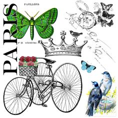 The Cottage Market: The Party Continues and a Paris Garden Free Graphic for you! Printable Art, Free Printables, Image Paris, Paris Garden, Art Carte, Vintage Ephemera, Vintage Crafts, Digi Stamps, Illustrations