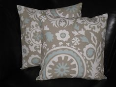 SUZANI decorative throw pillows set of Two 20 x 20 by beckorama, $28.00